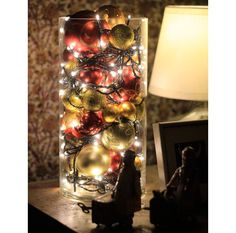 Cool Ways To Use Christmas Lights – Christmas Ball Luminary – Best Easy DIY Ideas for String Lights for Room Decoration, Home Decor and Creative DIY Bedroom Lighting – Creative Christmas Light Tutorials with Step by Step Instructions – Creative Crafts and Noel Christmas, Merry Little Christmas, Winter Christmas, Christmas Ornaments, Christmas Balls, Simple Christmas, Christmas Ideas, Christmas Hallway, Christmas Lights In Jars