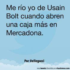 Me río de Usain Bolt. #humor #risa #graciosas #chistosas #divertidas Usain Bolt, Carpe Diem, Comedy, Jokes, Lol, Smile, Runners, Funny Stuff, Collage