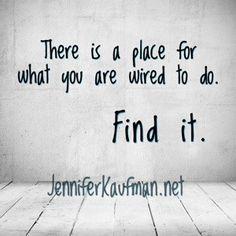 Find your place. - JenniferKaufman.net