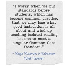What are good reading lessons aligned with the #CommonCore standards? Regie Routman shares her thoughts.