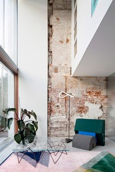 Shift exchanges brickwork for glazing to create pair of bright apartments in Rotterdam townhouse Rotterdam, Industrial Interior Design, Industrial Interiors, Industrial Decorating, Industrial Furniture, Patio Interior, Home Interior, Architecture Renovation, Architecture Design