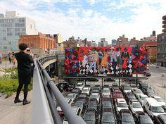 'Groovin High' mural at Highline Park, NYC