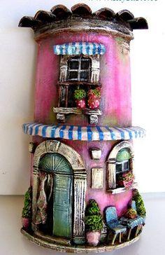 """hand decorated tiles by """"El Sombrerero Loco"""""""