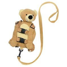 Walk you child with this super cute bear backpack. There are also safety reins to ensure your chills is safe! http://www.babysecurity.co.uk/products/1800/Goldbug-Child-Backpack-Bear-Safety-Rein.html