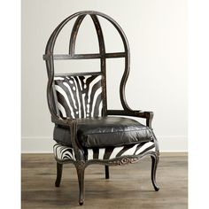 Old Hickory Tannery Zebra Balloon Chair ($3,639) ❤ liked on Polyvore featuring home, furniture, chairs, accent chairs, colored chairs, english furniture, handmade furniture, handcrafted furniture and old hickory tannery