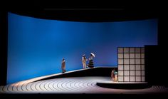 Madame Butterfly. San Francisco Opera. Scenic design and projections by Jun Kaneko. Lighting by Gary Marder.