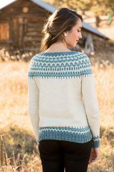 Вязание пуловера спицами Meltwater