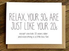 Funny Birthday Card – Birthday Card – Birthday Card – and - Geburtstag Birthday Greetings For Men, Happy Birthday Quotes For Him, Birthday Surprises For Him, Birthday Cards For Him, Funny Birthday Cards, Card Birthday, Funny 30th Birthday Quotes, Humor Birthday, Happy Birthday 30 Funny