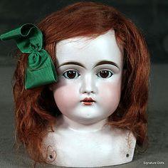 Large Kestner 148 Shoulderhead with Auburn Mohair Wig #dollshopsunited