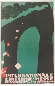 Original vintage poster FRANKFURT TRADE FAIR Hohlwein | eBay