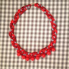 Czerweny kurali domowej roboty #czerwonekorale #handmade #jawellery