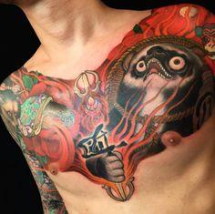 Un des derniers tatouages réalisés par Shige © Instagram