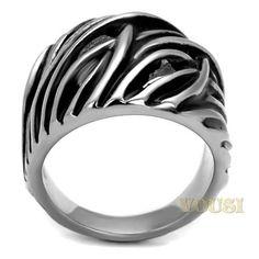 Mens High Polish Black Epoxy Ring RI0T-08294, Jewelry - Worlds Largest Jewelry Store