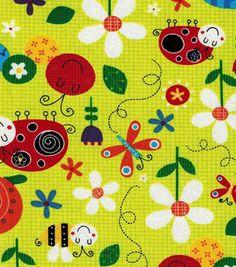 Novelty Cotton Fabric-Bugs
