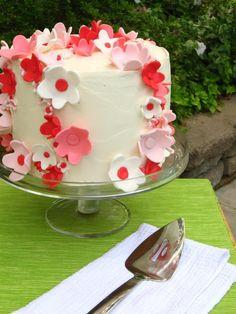 Toasted Almond Cake with Mascarpone Cream and Amarena Cherries - Willow Bird Baking > Willow Bird Baking