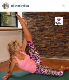 2a78bdadf28cf Thanks to www.pilatesbylisa.com.au for another great Pilates clip wearing Kast  Australia Jungle Vibe Capris - find yours at www.kastaustralia.com