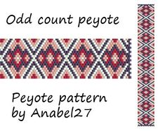 Pattern made with size 11/0 Miyuki Delica seed beads Approx width: 1 (19 columns) Approx length: 7.04 Technique: Odd Count Peyote Colors: 4   Pattern includes: - Large colored numbered graph paper - Bead legend (numbers and names of delica beads colors ) - Word chart - Pattern preview  PLEASE NOTE: !!! PATTERN DOES NOT CONTAIN ANY INSTRUCTIONS OR MATERIALS !!!  1 PDF file: (Instant download, link is available once your payment is confirmed)  This pattern is for personal use only. Do not ...