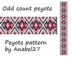Peyote pattern - bracelet pattern - beadwork - bead pattern #44