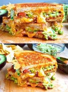 Bacon Guacamole cheese sandwich - a great summertime/beach lunch: http://www.thenewgrandmom.com/food-drink/ - You can find the recipe on my blog, but experiment with the recipe - Use sliced guacamole, your favorite cheese and bread, etc. It's yummy!