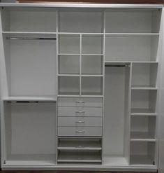 placard 2.40x2.50x0.60 melamina 18 mm c/perfiles de aluminio