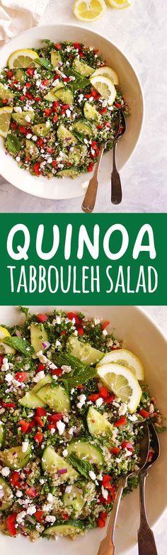 Quinoa Breakfast Bowls with Peppers and Kale Tabouleh Salat, Quinoa Tabbouleh, Quinoa Salat, Best Gluten Free Recipes, Gf Recipes, Delicious Recipes, Quinoa Breakfast Bowl, Healthy Salad Recipes, Vegetarian Salad
