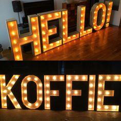 Goedemorgen! #lumen #lichtletters #koffie #marquee www.lumenlichtletters.nl