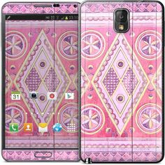 Pink Najd princess Samsung Note 3 cover 15$ #doorsofthemagickingdom #pink #samsungnote #phonecover #design #tribal #geometric #pattern #saudiarabia
