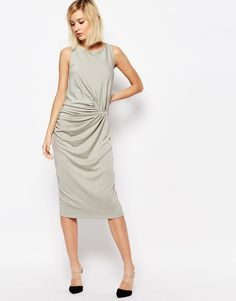 Image 4 ofSelected Radia Drape Dress in Jersey