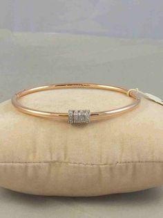 Fossil Brand Rose Gold Starter Slider Charm Hinged Bangle Bracelet JF01762 $58 #Fossil #Bangle