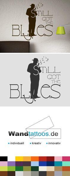 Fancy Wandtattoo Still got the Blues Musiker