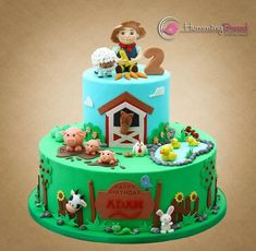 Farm Cake - Cake by HummingBread Farmer Birthday Cake, Farm Birthday, Barnyard Cake, Bolo Fack, Barn Cake, Farm Animal Cakes, Cakes For Boys, Girl Cakes, Cute Cakes