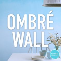 How to Paint an Ombre Wall |  For this easy DIY project, we'll show you how to transform a plain wall with a simple technique that creates a stunning and colorful ombre focal point for any room.  #paintcolors #paintprojects #marthastewart #ombre