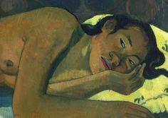 Paul Gauguin, Nevermore, oil on canvas, 1897 (Courtauld Gallery, London) Paul Gauguin, Gauguin Tahiti, Impressionist Artists, Modern Artists, Sculpture, Henri Matisse, Gravure, Impressionism, Lovers Art