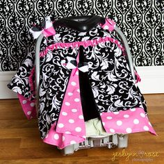 Carseat Canopy / Carseat Cover / Carseat Tent  by SassyMcTaffy,