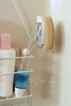 Fill a dishwashing wand with a 50/50 mix of dawn dish soap and vinegar for an easy shower cleaner. You can just wipe down the walls before you get out of the shower.