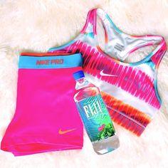 Nike Pro Women's Workout Clothes | Fitness Apparel | #nike Nike Workout Shorts | Nike Sport Bra http://www.FitnessApparelExpress.com