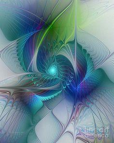 Rebirth - Fractal Art Digital Art - Rebirth - Fractal Art Fine Art Print