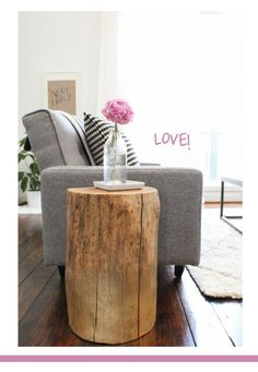 Inky and bright - tree stump diy - two Somethingvintage.com.au