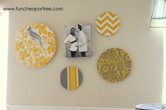 I like grey/white with one accent colour.  I like the chevron fabric and the bird.