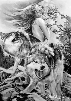 As aesthetically pleasing as tattoos are, they can be costly and require a lot of time, effort, and patience. American Indian Art, Native American Art, Fenrir Tattoo, Arte Viking, Wolf Hybrid, Wolves And Women, Wolf Spirit Animal, Wolf Tattoo Design, Wolf Design
