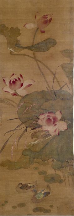 Ducks in a Lotus Pond, Chinese painting/drawing. (Walters Museum)