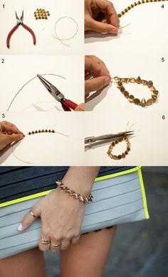 #Stud Bracelet DIY  bracelets #2dayslook #new #bracelets #nice  www.2dayslook.com