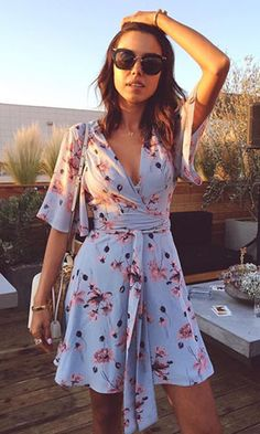 2020 Women Fashion floral dress for dinner flower skater dress – mariliy Elegant Dresses, Cute Dresses, Casual Dresses, Short Dresses, Fashion Dresses, Summer Dresses, Stylish Summer Outfits, Simple Outfits, Spring Outfits