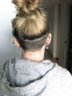 undercut hairstyle women back of head - Google Search