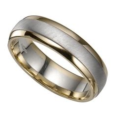 Mens 14K Two Tone Gold Wedding RingsWomens Wedding RingsMens