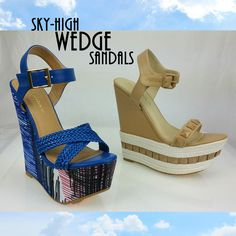 SKY HIGH WEDGE SANDALS~! Wedge Heels take the shoes of the moment to new height!!! @ www.FABrebel.com #wedge #shoes #heels #sky-high #espadrille #braided #summer2015 #trendy #lovely #freshlook #inspiredlook #celebritystyle #vacation #stylishshoes #shoeslover #shopping #fabrebel