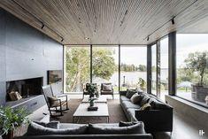 Une maison d'architecte aux murs de béton