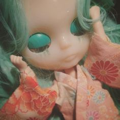#mint #blythe #custom #wip hace falta mucha práctica pero esta pequeña mint promete mucho