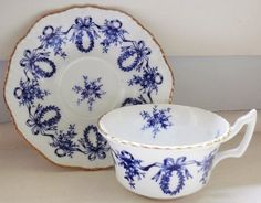 Pretty Phoenix Tea Cup & Snack Plate 1950s by TabletopDesignsII