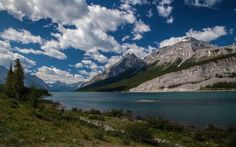 landscape mountain river sky clouds Old Goat Mountain Canada wallpaper background